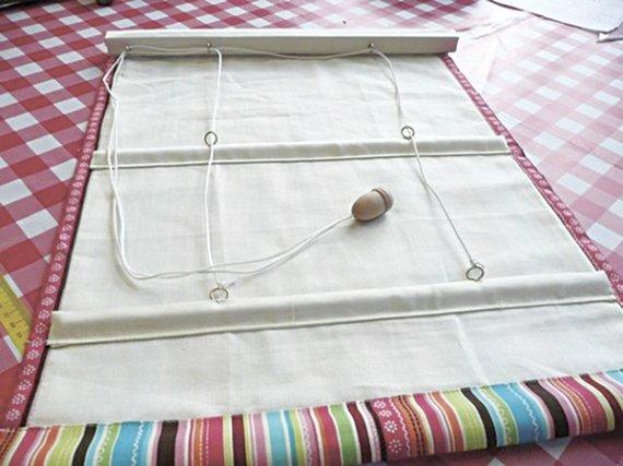 Как самой изготовить римскую штору