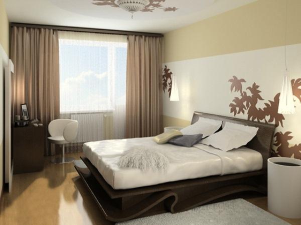 Дизайн шторы для спальни