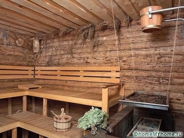 Отделка бани внутри: фото, этапы монтажных работ и выбор материалов