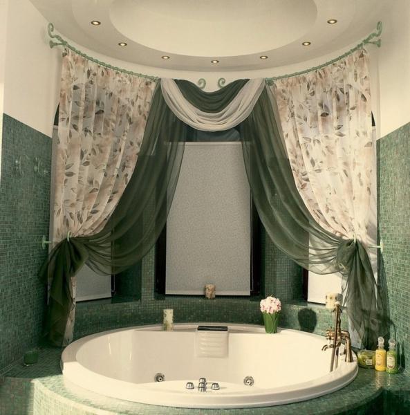 Шторка для ванной — фото оригинальных аксессуаров для ванной комнаты